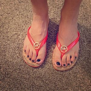 Micheal Kors cork PVC jelly sandals!